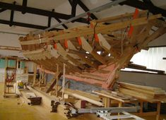 This photos show building of schooner Archimedes The designer is George Buehler. Sailboat Interior, Classic Wooden Boats, Wooden Boat Building, Naval, Kayaking, Sailing, Restoration, Woodworking, Exterior