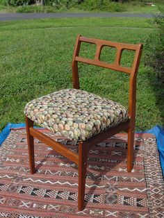 Vintage Danish Modern Teak Side Chair Dove Tailed