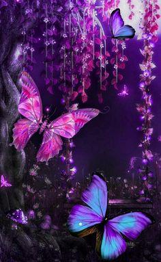 Blue Butterfly Wallpaper, Butterfly Background, Butterfly Painting, Butterfly Art, Colorful Wallpaper, Butterfly Quotes, Unicornios Wallpaper, Cute Wallpaper Backgrounds, Cellphone Wallpaper