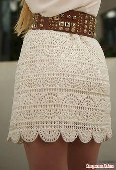 Потрясающая юбочка на лето и в офис! Как правильно ее вязать?
