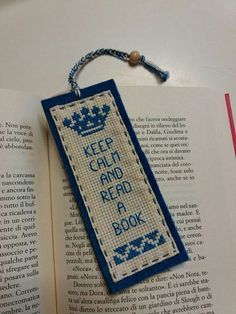 Cross stitch embroidered bookmarks sewn on felt Celtic Cross Stitch, Cross Stitch Quotes, Cross Stitch Letters, Cross Stitch Books, Cross Stitch Bookmarks, Mini Cross Stitch, Cross Stitch Cards, Beaded Cross Stitch, Cross Stitch Borders
