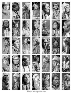 Vintage Photographs of Native Americans in for dominos -- piddix digital collage sheet no. Native American Beauty, Native American Photos, Native American Tribes, Native American History, American Indians, Sioux, Indian Pictures, Native Indian, Vintage Photographs