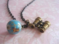 I Want to See the World Necklace