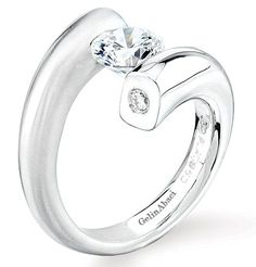 Contemporary tension set Wedding Rings for Women | Tension Set Engagement Rings - Mervis Diamonds