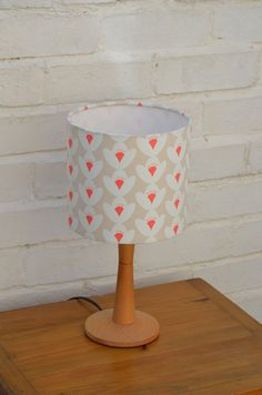 Cream Lamp Shade, Floral Lampshade, Mid Century Lampshade, Handmade  Lampshade, Cream Home Decor, Floral Decor, Fabric Lamp, Simple Lampshade