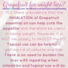 Essential Oil Weightloss 2019 - YES, there is evidence that the INHALATION of Grapefruit essential oil can help . Essential Oil Inhaler, Essential Oils Guide, Essential Oil Uses, Young Living Oils, Young Living Essential Oils, Vegan Recipes Easy Healthy, Lose Weight, Weight Loss, Reduce Weight