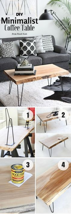 Shed Plans - Cant beleive how easy it is to build this DIY Minimalist Coffee Table Industry Standard Design - Now You Can Build ANY Shed In A Weekend Even If You've Zero Woodworking Experience! Coffee Table Design, Modern Glass Coffee Table, Unique Coffee Table, Rustic Coffee Tables, Diy Coffee Table, Easy Wood Projects, Project Ideas, Easy Home Decor, Diy Furniture