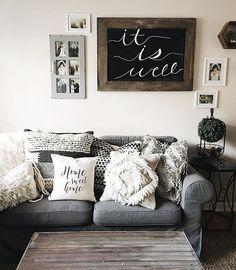 "Added a pillow to my collection! Absolutely love this ""Home Sweet Home"" pillow from @thecozynest1. • • • •  #farmhousechic #farmhousedecor #farmhouse #whitemasterbedroom #masterbedroom #fixerupper #farmhousestyle  #mysouthernliving  #urbanfarmhouse #modernfarmhouse  ##mybhg #bhghome #hgtv #habitandhome #peoplescreative #sweetsaturdaysimplicity #thepolishedfarmhouse #styledsaturdaysigns #simplelivingsaturday #seasonalsaturdays"