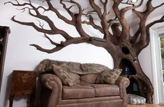 Artist CATapulted To Fame With Unbelievably Gorgeous Cat Tree Sculpture Artist CATapulte Grandeur Nature, Tree Shelf, Tree Wall, Fake Trees, Son Chat, Wood Glue, Reno, Whimsical Art, Wingback Chair
