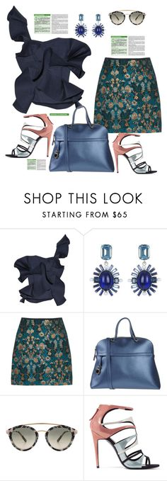 """Untitled #826"" by pesanjsp ❤ liked on Polyvore featuring Johanna Ortiz, Oscar de la Renta, Furla, Westward Leaning and Pierre Hardy"