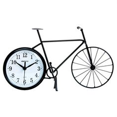 @rosenberryrooms is offering $20 OFF your purchase! Share the news and save!  Bike Silhouette Wall and Table Clock #rosenberryrooms