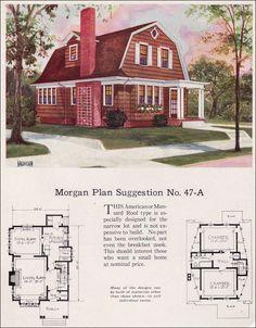 Exceptional 1923 Dutch Colonial Revival   Gambrel Roof   Morgan   U0027Building With  Assuranceu0027 Catalog   No.