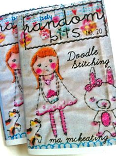doodle stitching. Shop not available at present. Great idea for embroidering Golden Books etc... 8.5.2015