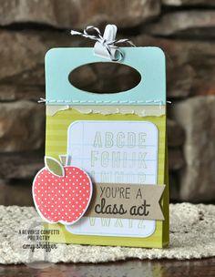 Reverse Confetti | March Release | Class Act stamps and Confetti Cuts | #teacherappreciation