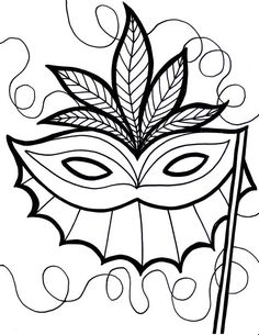 Printable Mardis Gras Coloring Page Free PDF Download At