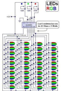 LED Tipo: LED RGB cristal de alta luminosidad. Color: RGB (Red - Green - Blue ) Tamaño: 5mm Consumo: 60mA (20mA x color) Tensión nominal: en...