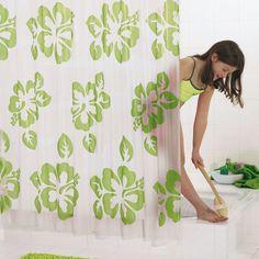 Rideau de douche 180x200 baignoire rideau Set bacs Rideau 12 crochets badvorhang zen