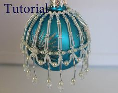 PDF tutorial Christmas Ornament _beaded by BeadsMadness on Etsy