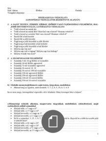 Diszlexia és diszkalkúlia feladatbank iskolaelőkészítős korosztályra