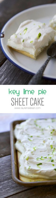 Key Lime Pie Sheet Cake