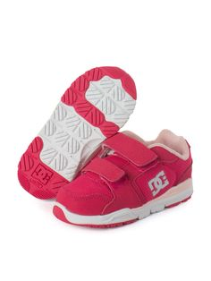 Adquiere en www.bebitos.mx Tenis DC SHOES #tenis #moda #infantil #fashion #outlet #niño #niña #bebe #velcro #rosa