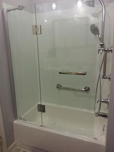Schon Mia 40 in. x 55 in. Semi-Framed Hinge Tub and Shower Door in Chrome and Clear Glass SC70014 at The Home Depot - Mobile