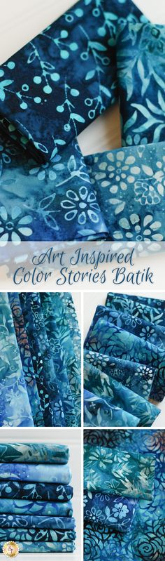 Art Inspired Color Stories Batik by Anthology Fabrics is a beautiful collection available at Shabby Fabrics!