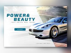 Automotive Landing Page by Robert Navaille