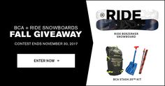 RIDE BCA Fall Giveaway
