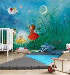 Fresh  Erdbeerinchen Vliestapete Kinderzimmer Tapete kinder Motiv Wandbild Erdbeere