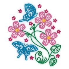 Spring Filigree Butterflies and Flowers - 5x7 | What's New | Machine Embroidery Designs | SWAKembroidery.com Starbird Stock Designs