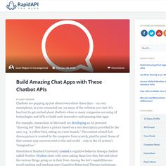 Build Amazing Chat Apps with These Chatbot APIs - Blog Post