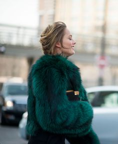 #petrol #fur. i hope it's faux fur, but i dont know it for sure.