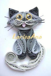 kitty! Filigrana con papel