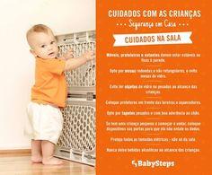 #Cuidado_com_as_Crianças_Segurança_em_Casa #babysteps #infográficos #crianças #cuidados #casa