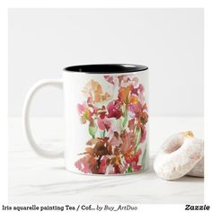 Shop Iris aquarelle painting Tea / Coffee cup created by Buy_ArtDuo. Paper Napkins, Paper Plates, Coffee Cups, Tea Cups, Iris Flowers, Kitchen Collection, Kitchen Items, Custom Mugs, Romantic Weddings