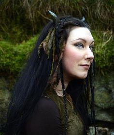 Green Faun/Faery/Goblin Horns by changelingscloset on Etsy