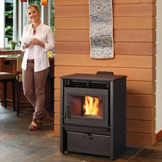 The Avalon AGP freestanding stove offers all the benefits of wood heating plus fuel that is clean, compact and easy to use. Available from Rich's for the Home http://www.richshome.com/