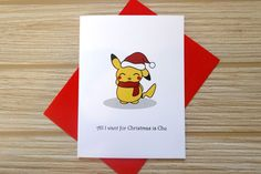 All I Want For Christmas Is Chu Card