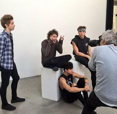 5sos at their Rolling Stone photo shoot!