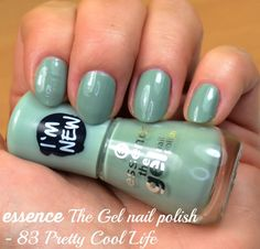 Essence The Gel nail polish 83 Pretty Cool Life review and swatches via @beautybymissl