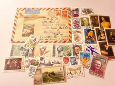 25 Russian Postage Stamps  1 Vintage Airmail Cover by Bulbjerg