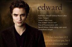 The Twilight Saga - Edward Twilight Saga Quotes, Twilight Saga New Moon, Twilight Saga Series, Twilight Edward, Twilight Cast, Twilight Movie, Twilight Poster, Vampire Twilight, Edward Cullen