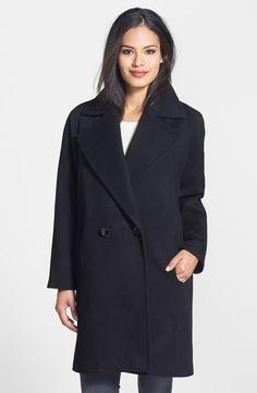 Kristen Blake Double Breasted Lambswool Blend Coat  (2)