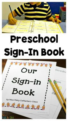 Use a preschool sign-in book for quick and easy name writing practice. Includes a free printable for your classroom.