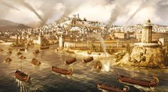 Carthage falls to the Romans from sea