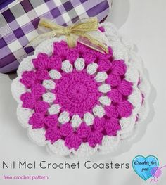 Nil Mal Coasters - free crochet pattern by Crochet for You