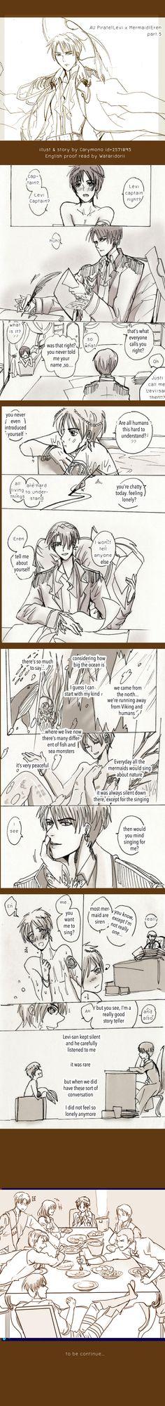SnK'AU : Pirate!Levi x Mermaid!Eren part5 by illuscarymono.deviantart.com on @deviantART