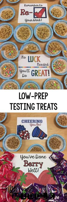 4 Ideas for Low-Prep Treats for Your Students during Standardized Testing