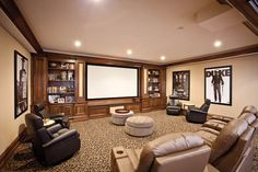 Great theater room in this home by custom builder Zicka Homes in the #Cincinnati area. #housetrends https://www.housetrends.com/specialist/Zicka-Homes
